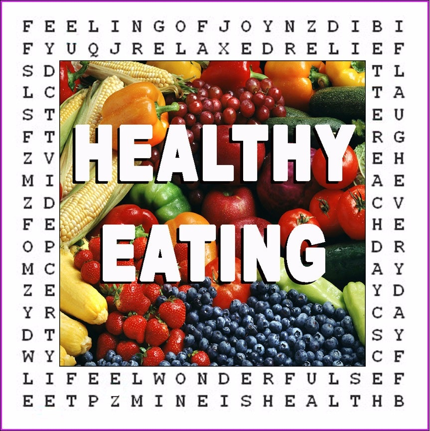 """Healthy Eating"" ♥ Hypnotic Word Search ♥ Puzzle"