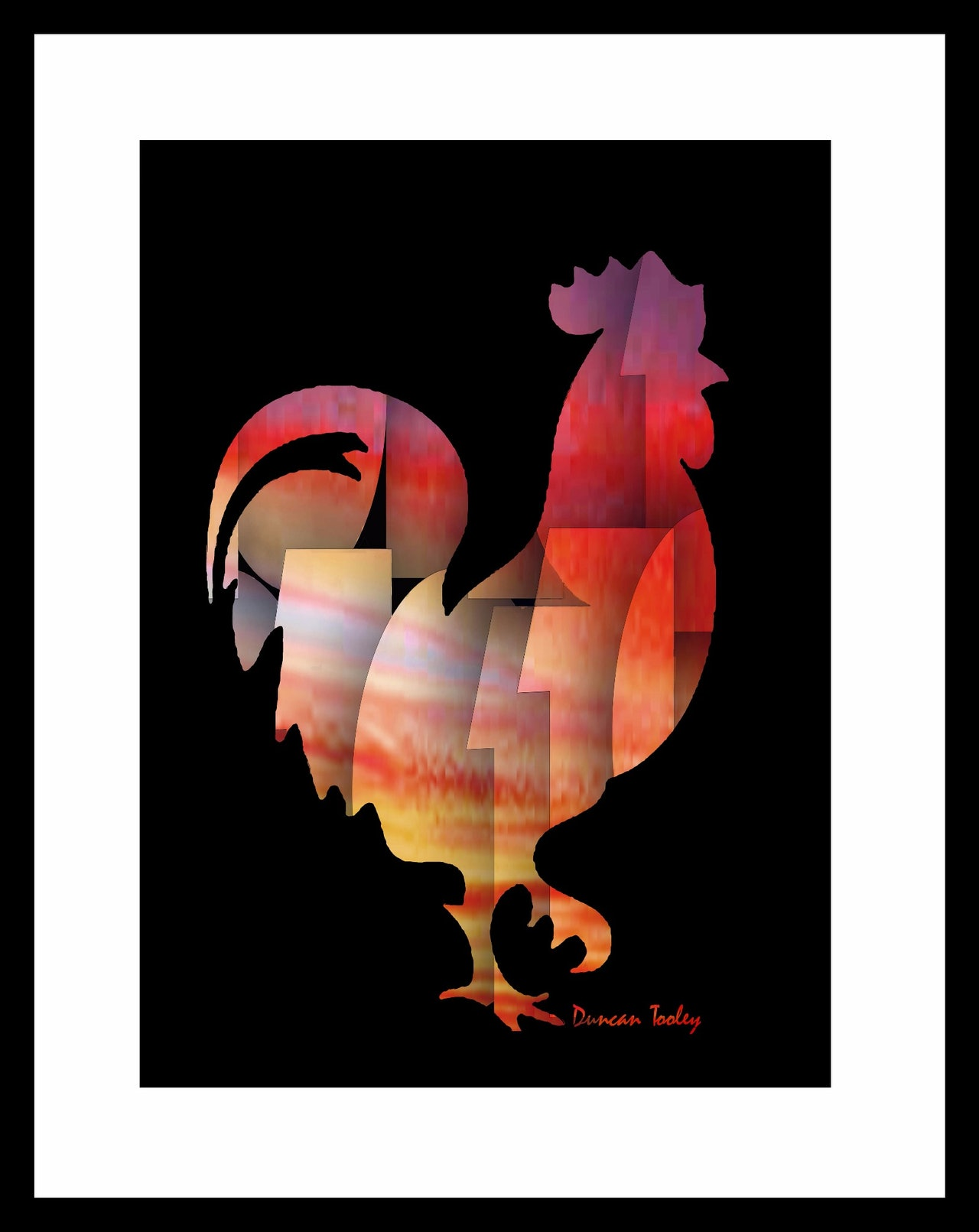 Binary Rooster Print