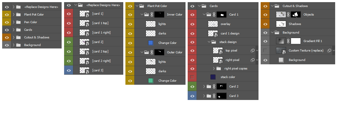 Layer Hierarchy of final Mockup