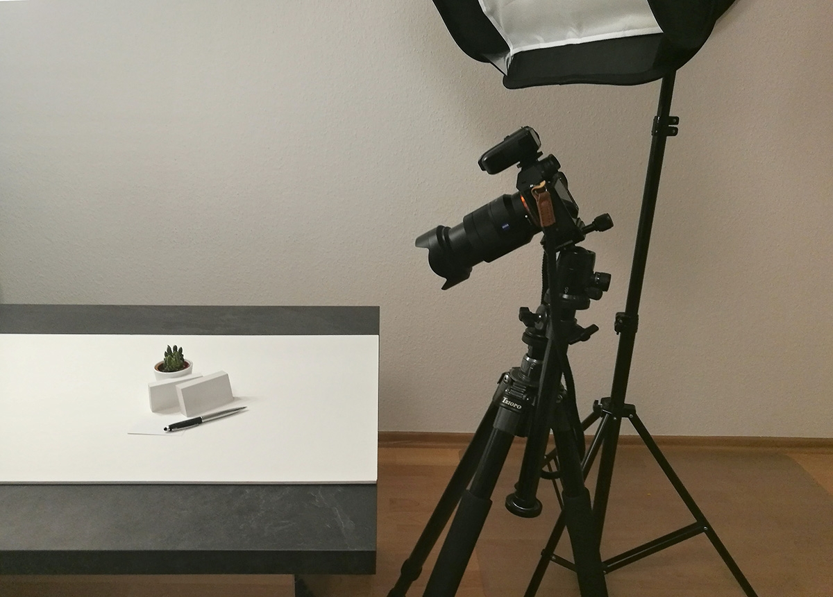 Mockup Photography Setup with Softbox