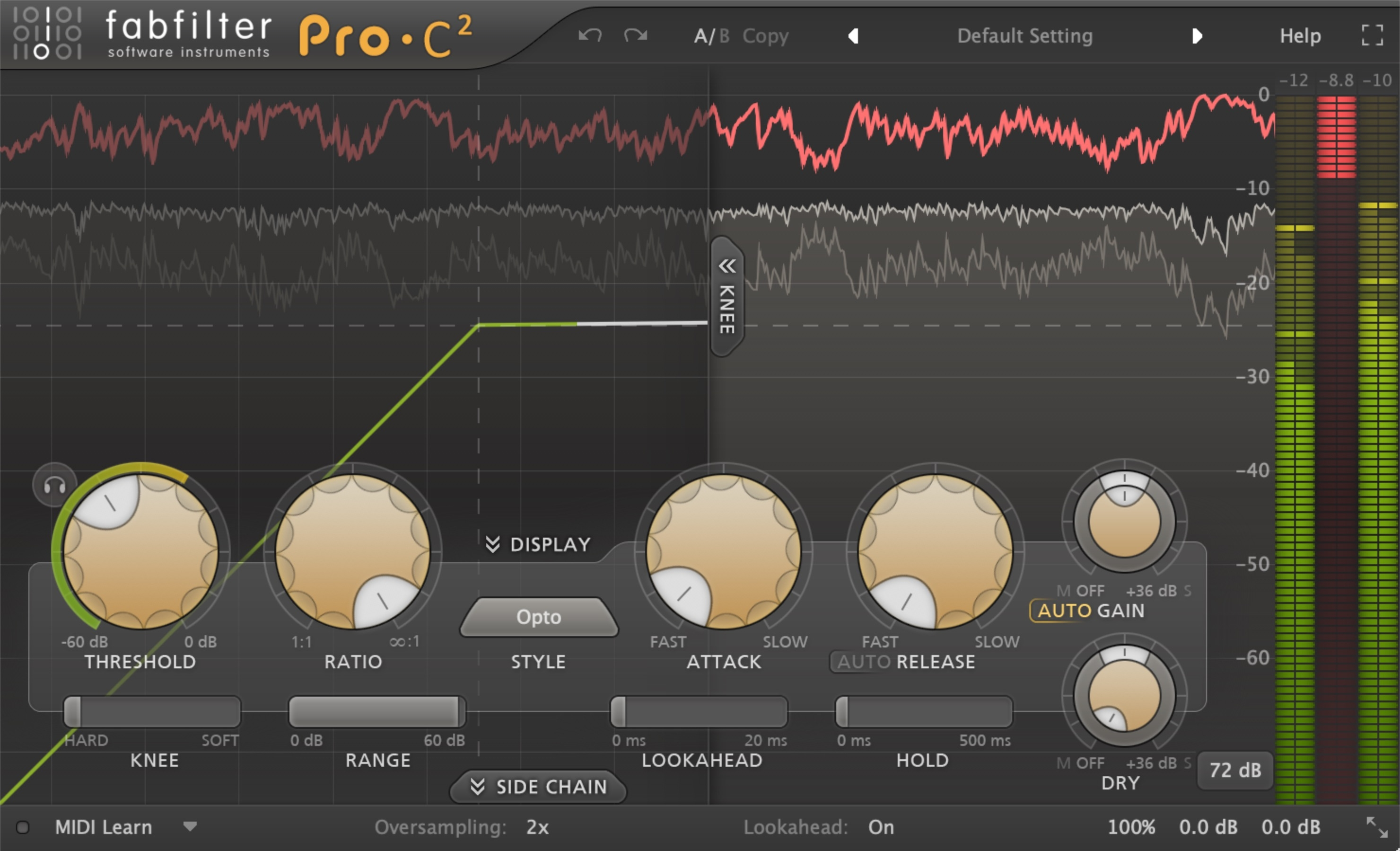 FabFilter Pro C Compressor settings